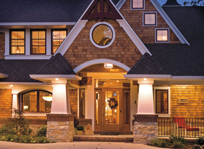 Architect series traditional exterior home